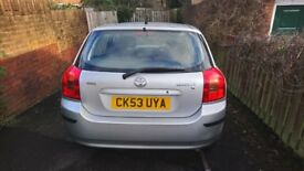47606 Low Mileage. 9 mths MOT. Automatic. Toyota Corolla. Good condition. Air conditioning.