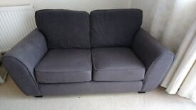2 x Grey 2 seater sofas, good condition collection only