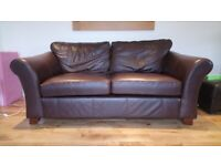 M&S leather 3 seater sofa