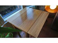 Ikea Bjursta Oak Veneer Dining Table and 2 Henriksdal chairs