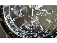 Seiko Solar Pilot Alarm Chronograph watch