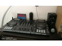 WELCOME. FOR SALE SET MCX8000 CONTROLLER + AUDIO + MIC SET + LASER LIGHT ALL 1000 F