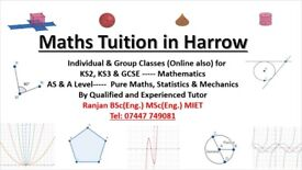 Qualified & Experience Maths Tutor-AS/A Level, GCSE, KS3 and KS2 in Harrow