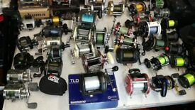 over 40 MULTIPLIER fishing reels from £5 up boat and beach good choice