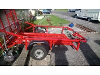 3 large motorcycle trailer for hire