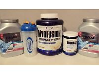 Protein supplements + BCAA amino acids
