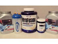 Protein supplements + BCAA amino acids