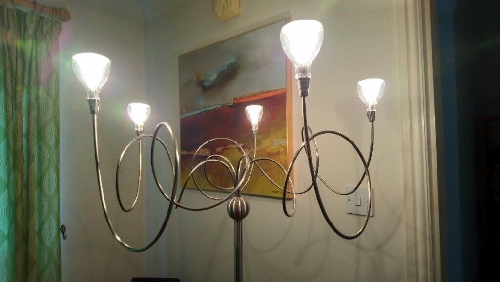 Floor lamp with dimmer modern twisted design cost £ in york