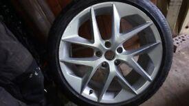 "Seat leon fr 18"" alloy with bridgestone potenza tyre"