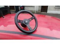 Corsa B rally sports steering wheel with fitment boss