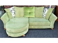 DFS L-shaped Light green sofa