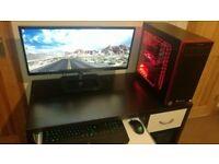 Gaming PC GTX 1080 VR ready ZOTAC 16GB DDR4 i7 7700 3yrs warranty
