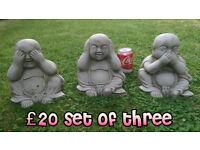 Buddha stone garden ornaments