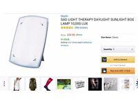 SAD light, therapy box