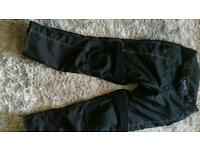Motorbike trousers with liners
