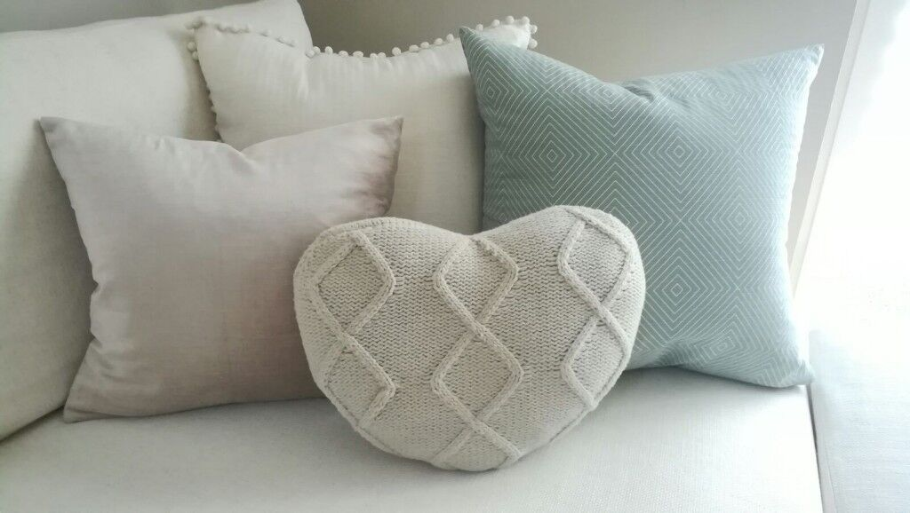 Heart Shaped Knitted Cushion In Hersham Surrey Gumtree