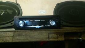 Car radio and speakers