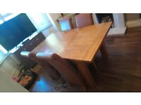 Dining table and matcching sideboard