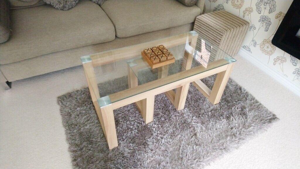 Argos Oak Glass Coffee Table Set Hygena Cubic Range Coffee Table Side Table In Kesgrave Suffolk Gumtree