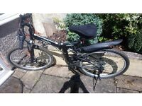 2x Ecosmo folding bikes, Dual Suspension, 21 SP SHIMANO gears, Front Disc Brake, barely used