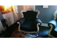 BAROQUE Armchair (selling Individually But Two Available) VERY Comfortable,  Newly Recovered