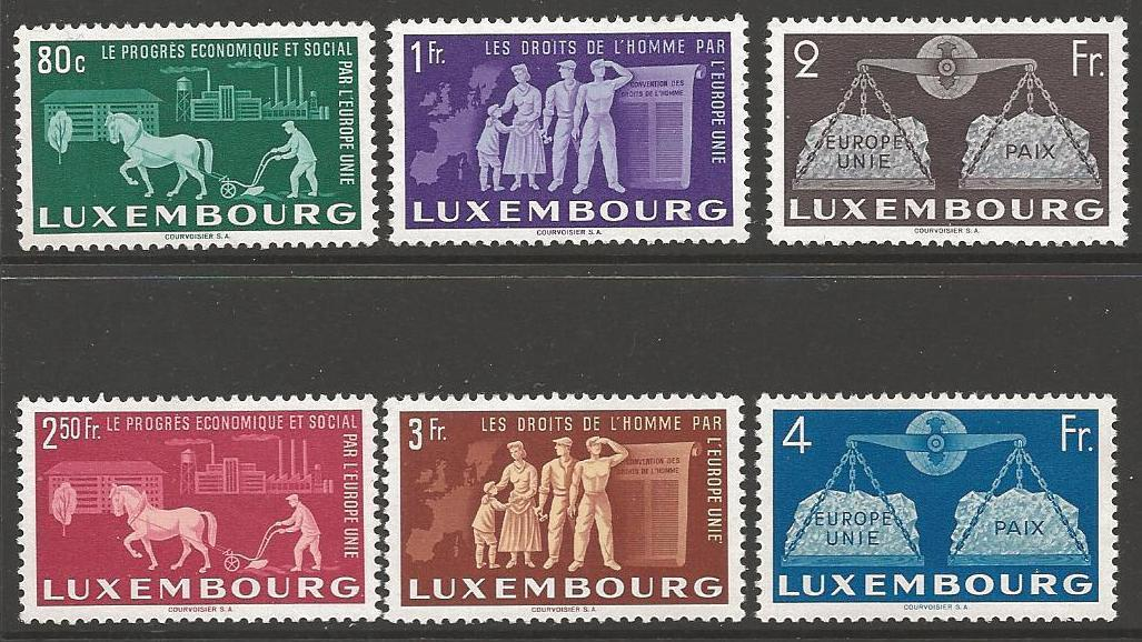 LUXEMBOURG SG543/8 1951 TO PROMOTE UNITED EUROPE MNH