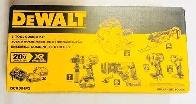 DEWALT DCK694P2 20V Max Brushless XR Cordless 6 Road Combo Kit with Case - NEW !