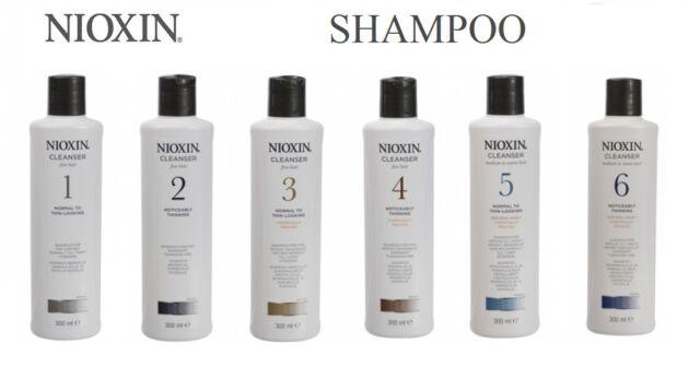 Nioxin System Hair Thinning Loss Scalp Cleansing Shampoo 300ml 1 2 3 4 5 6