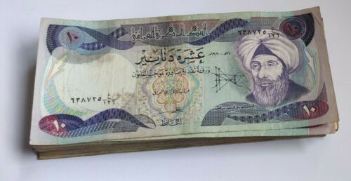 A bundle of 10 Iraqi Dinar Note in very fine condition