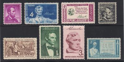 President Abraham Lincoln   Set Of 8 Diff U S  Postage Stamps   Mint Condition