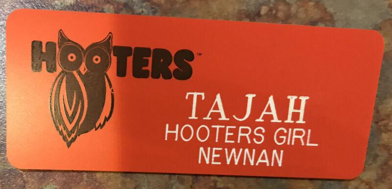 HOOTERS Waitress Name Tag HALLOWEEN Costume badge
