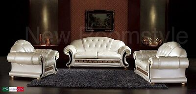 Venus Versace 3 + 2 + 1 Seater Sofa, Available in Cream or Black with Crystals