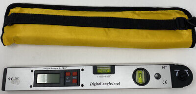 0225 Digital Angle Finder Protractor Inclinometer Meter Spirit Level Gauge