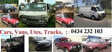 CASH FOR VANS, UTES, TRUCKS, 4X4, CARS - CAR REMOVAL GYMPIE Townsville Region Preview
