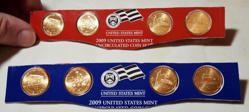 2009 P & D LINCOLN BICENTENNIAL (SATIN) BU 8 COIN SET *IN ORIGINAL MINT PLASTIC*