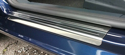 Ford Fiesta Mk7 2008+ Chrome Door Sill Protectors 4 Kick Plates Stainless Steel