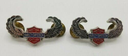 Harley Davidson Up Eagle Wings Bar and Shield Pins Lot of 2 (W-1)
