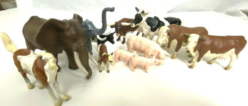 SCHLEICH Animal Lot - Cows Pigs Elephant + Burger King Horse longhorn AAA