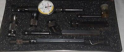 Starrett Last Word Dial Indicator No 711-.001 Gcsz With Attachments In Case