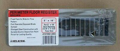 Lot Of 2 Selkirk Perimeter Floor Registers 2x10