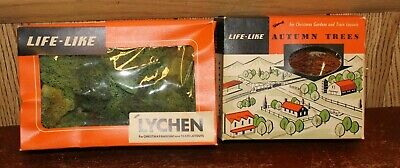 Lot of 2 Life-Like Lychen and Autumn Trees Train Layouts and Christmas Gardens ()