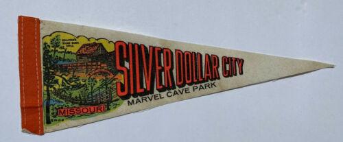 "Vintage Silver Dollar City Marvel Cave Park Missouri Souvenir 12"" Pennant"