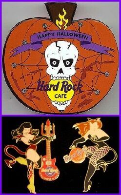 Hard Rock Cafe ONLINE 2001 HALLOWEEN 2 PIN Boxed Set Sexy VAMPIRE Girls HRC #3 ()