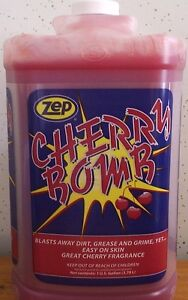 ZEP CHERRY BOMB HAND CLEANER GALLON GALLON ONLY $32.89 WITH FREE SHIPPING!
