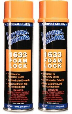 2 X 1633 Foam Lock Foam Fabric Spray Adhesive Or Glue Can 12 Oz 2pack