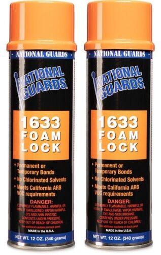 2 x 1633 foam lock Foam & Fabric Spray Adhesive or Glue Can 12 oz (2/pack)