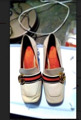 Vintage Gucci White Leather 7 1/2B Shoes