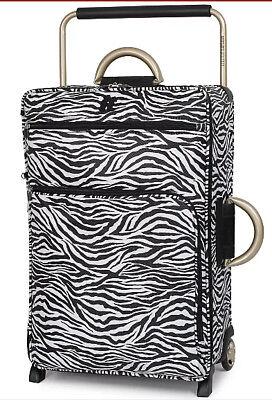 IT Luggage Worlds Lightest 2 Wheel Suitcase Zebra Print Large 79cm New