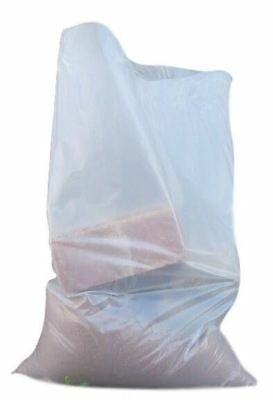 25pk Clear Rubble Bags 20x30 Inches Heavy Duty 400Guage, Strong Polythene