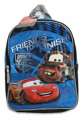 Sale Backpack 14  Disney Cars Mcqueen Mater Friends To The Finish Line Boy New
